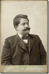 Der Operettenkomponist Heinrich Reinhardt um 1900